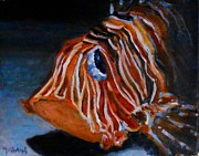 Lionfish Paintings - Lionfish by Karim Gebahi