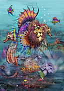 Lionfish Paintings - Lionfish by Kevin Middleton