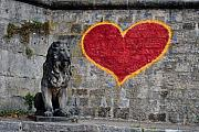 Grafitti Photos - Lionheart by Thomas Marchessault