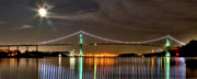 City Scape Photo Prints - Lions Gate Bridge in Colour Print by David  Naman