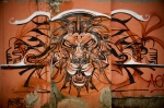 Artistic Metal Prints - Lions head graffiti Metal Print by Fabrizio Troiani