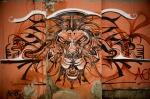 Lion's Head Graffiti Print by Fabrizio Troiani