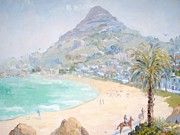 Palm Trees Fronds Originals - Lions Head Summer Morning by Elinor Fletcher