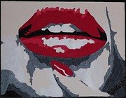 Monroe Painting Originals - Lips by Jamie Blackbourn