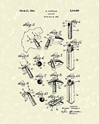 Makeup Drawings Posters - Lipstick 1944 Patent Art Poster by Prior Art Design