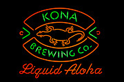 Kona Brewing Framed Prints - Liquid Aloha Framed Print by Dan McManus