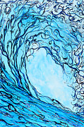 Surfing Art Painting Originals - Liquid Courage by Tamara Kapan