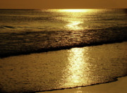 Panama City Beach Photo Metal Prints - Liquid Gold Metal Print by Sandy Keeton