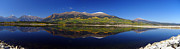 Mt Elbert Framed Prints - Liquid Mirror Panorama Framed Print by Jeremy Rhoades