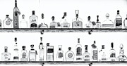 Kathleen K Parker - Liquor Bottles - Black and White
