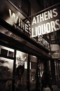 Liquor Shop - New York At Night Print by Miriam Danar