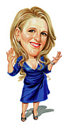 Caricatures Paintings - Lisa Lampanelli by Art