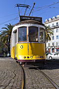 Travel Sightseeing Prints - Lisbon - 100 years old typical Lisboan Tram Print by Lusoimages  