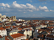 Lisboa Framed Prints - Lisbon City View Framed Print by Kiril Stanchev