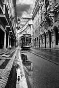 Tram Photos - Lisbon by Jorge Maia