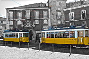 Trolley Car Posters - Lisbon Trams Poster by Galexa Ch