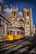 Tram Photos - Lisbons ancient cathedral  by Sven Stork