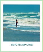 Beaches In Florida Prints - Listen to the sound of music Print by Susanne Van Hulst