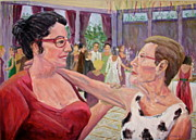 Wedding Reception Paintings - Listen to your Aunt by Bonnie Wilber