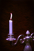 Lit Metal Prints - Lit Candle Metal Print by Christopher and Amanda Elwell