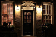 Old School House Photos - Lit Doorway by John Rizzuto