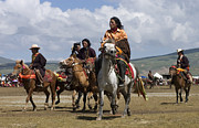 Tough Guys Prints - Litang Horseman - Kham Tibet Print by Craig Lovell