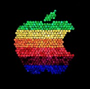Ipod Posters - Lite Brite Macintosh Poster by Benjamin Yeager