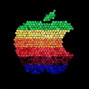 Lite Brite Macintosh Print by Benjamin Yeager
