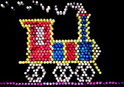 Seventies Posters - Lite Brite - The Choo-Choo Train Poster by Benjamin Yeager