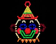 80s Metal Prints - Lite Brite - The Classic Clown Metal Print by Benjamin Yeager