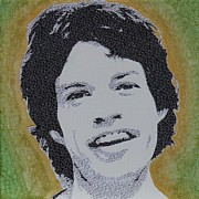 Jagger Mixed Media - Literally Mick Jagger by Gary Hogben
