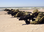 Featured Art - Lithuanian Special Forces Members Lie by Stocktrek Images