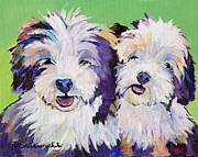 Litter Mates Print by Pat Saunders-White