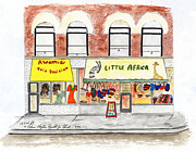 Adam Clayton Framed Prints - Little Africa in Harlem Framed Print by Lynn Lieberman