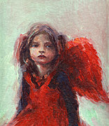 Art In Acrylic Drawings Framed Prints - Little angel Framed Print by Svetlana Novikova