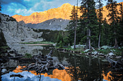Nature Orange Prints - Little Bear Peak and Lake Como Print by Aaron Spong