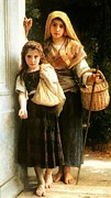 Little Girls Digital Art - Little beggars by William Bouguereau