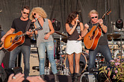 Live Music Framed Prints - Little Big Town Framed Print by Mike Burgquist