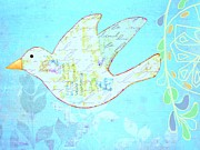 Barbara Drake Mixed Media Prints - Little Bird Print by Barbara Drake