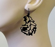 Large Earrings Jewelry - Little Bird Feathers Earrings by Rony Bank