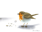 Digital Art - Little bird by Veronica Minozzi