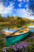 Canoe Metal Prints - Little Bit of Heaven Metal Print by Debra and Dave Vanderlaan
