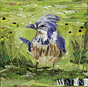 Bluejay Mixed Media - Little Blue Jay by Beth Watkins