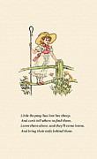 Little Bo Peep Posters - Little Bo Peep Poster by Safran Fine Art