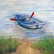 Oars Paintings - Little Boat by Loretta Luglio