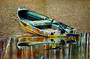 Photomanipulation Photo Prints - Little Boat photoart Print by Debbie Portwood