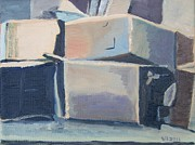 Boxes Paintings - Little Boxes-All the Same?  by Vera  Smith