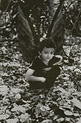 Angela Castillo Prints - Little Boy Fairy Print by Cherie Haines