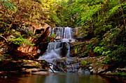 Asheville Digital Art Framed Prints - Little Bradley Falls Framed Print by Jeff McJunkin