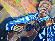 Guitarists Paintings - Little By Little_ Tommy Emanuel by David Fossaceca